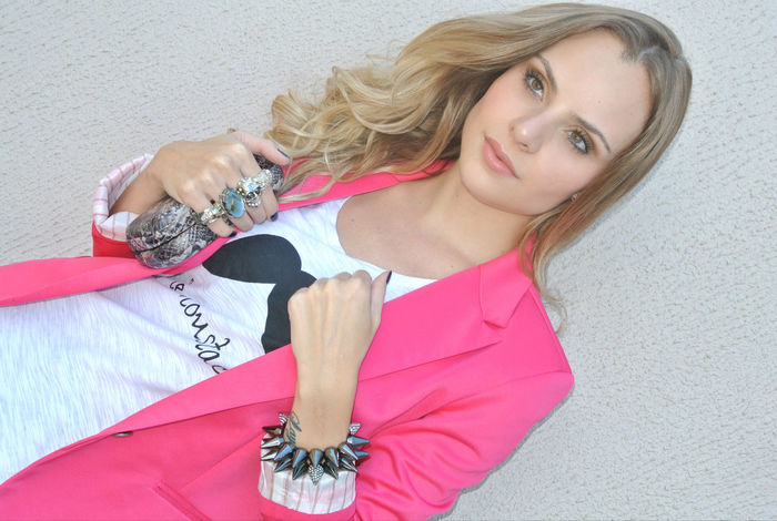 Look do dia: Blazer + T-shirt