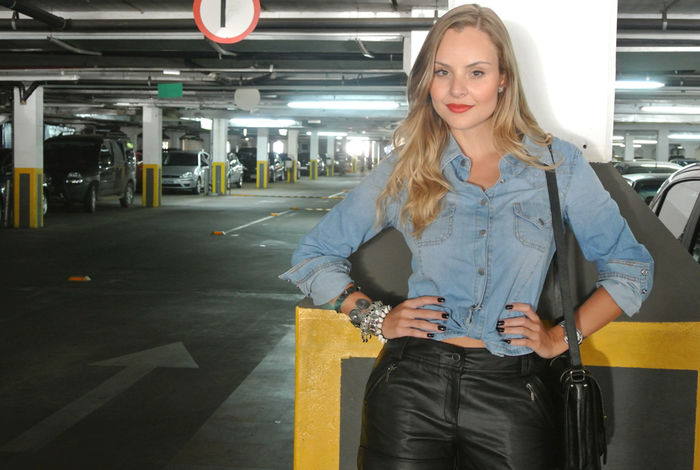 Look do dia: Jeans + couro