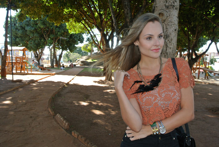 Look do dia: Cropped Top + Flare