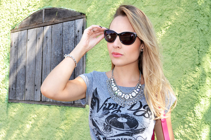 Look do dia: Cropped Top + High waist