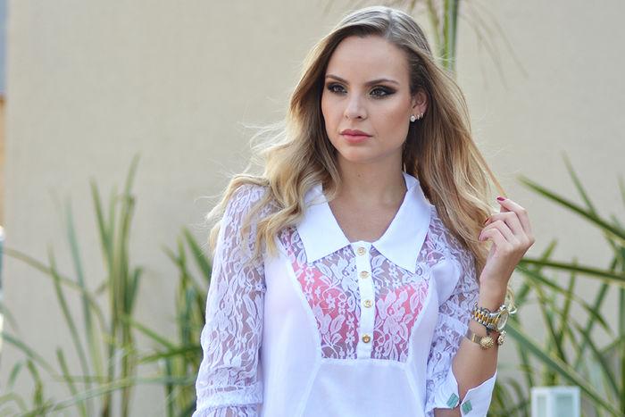 Look do dia: Renda + Tie Dye
