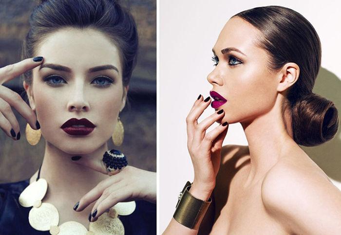 maquiagem-de-noiva-batom-vinho-vermelho-plum-para-outono-inverno-2014_0001