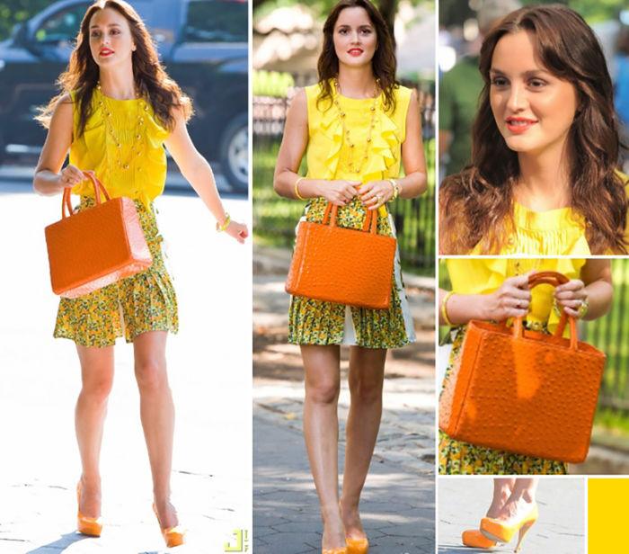moda-leighton-meester-look-amarelo-florido