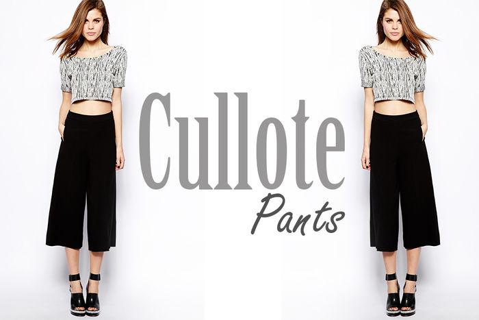 Você sabe o que é Cullote Pants?
