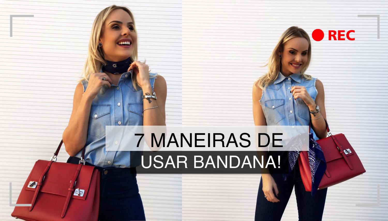 7 maneiras de usar bandana