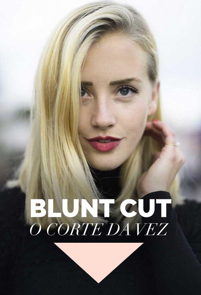 Layla Monteiro tendência blunt cut cabelo liso reto corte ombro