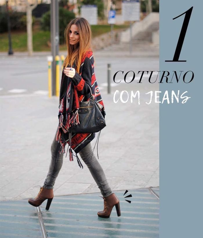 Layla Monteiro como usar coturno com calça jeans looks