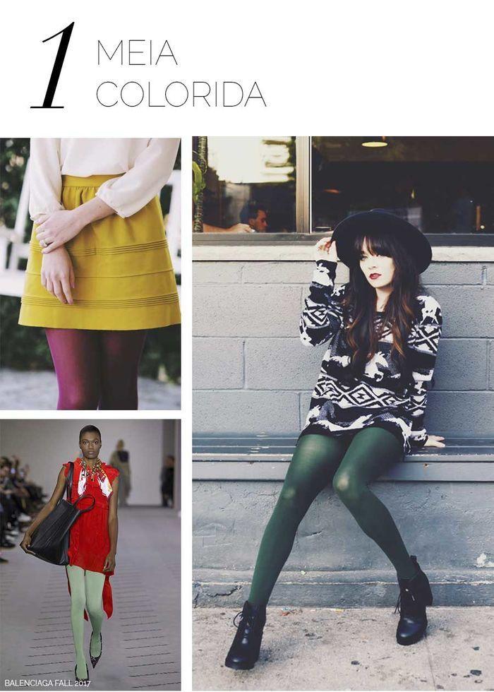 Layla Monteiro meia calça colorida como usar