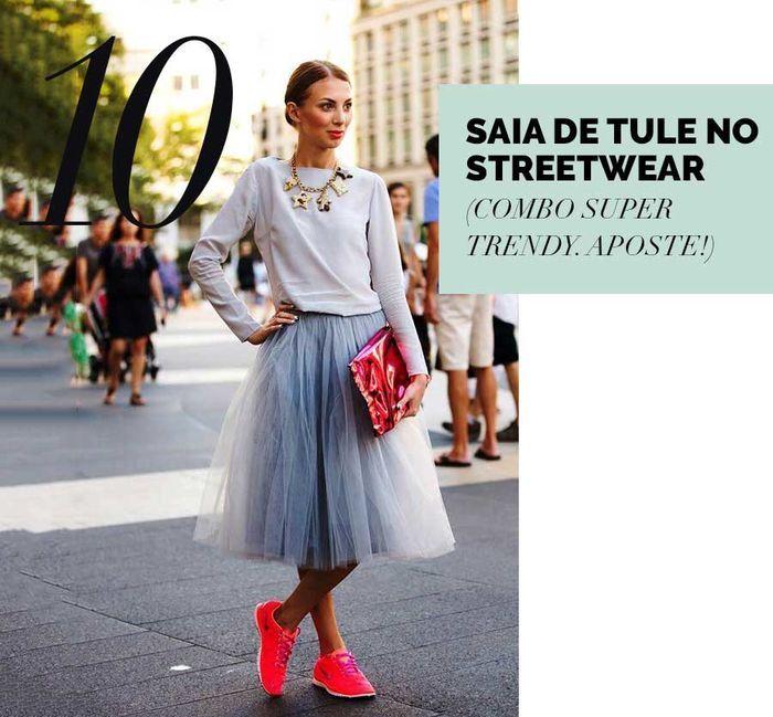 Layla Monteiro como usar saia de tule cinza com moletom com tênis nike