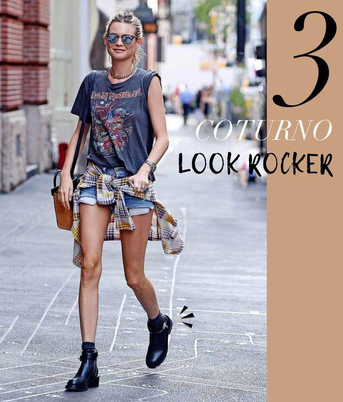Layla Monteiro como usar coturno sem salto com look rocker
