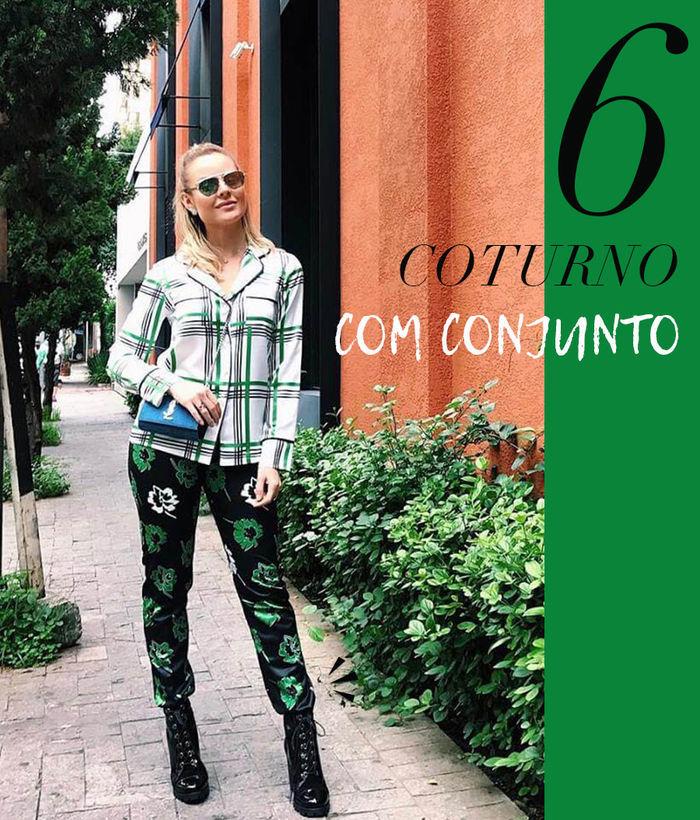 Layla Monteiro como usar coturno com calça conjunto