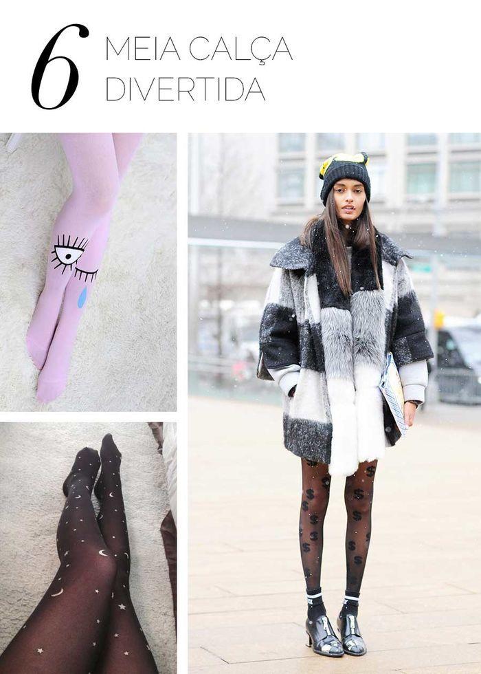 Layla Monteiro como usar meia calça divertida estampada olho estrela