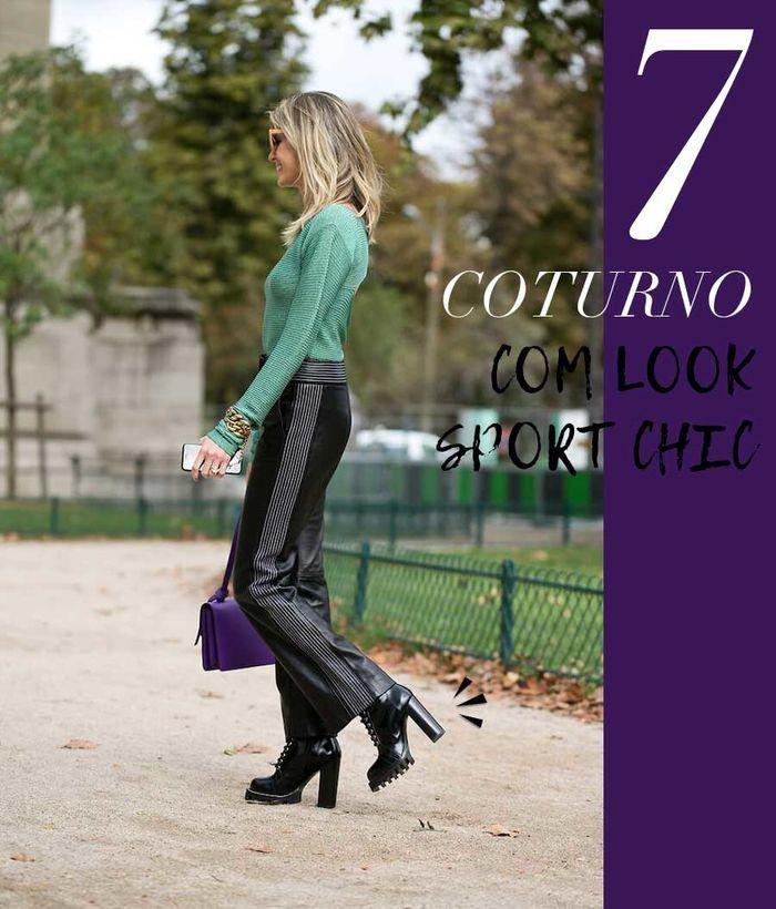 Layla Monteiro como usar coturno com calça blusa look sport chic