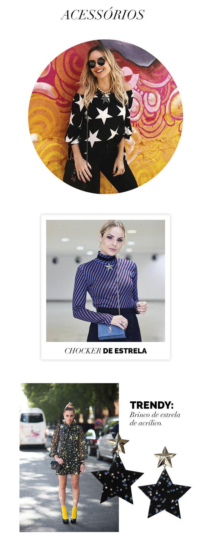 Layla Monteiro como usar look com estrela tendência acessórios star brinco de estrela de acrílico colar de bolas estrela