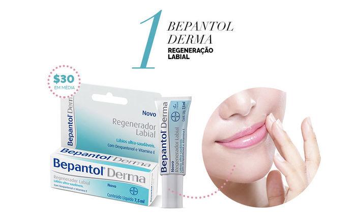 Layla Monteiro dicas de produtos para a pele por até 40 reais Bepantol Derma regeneração labial