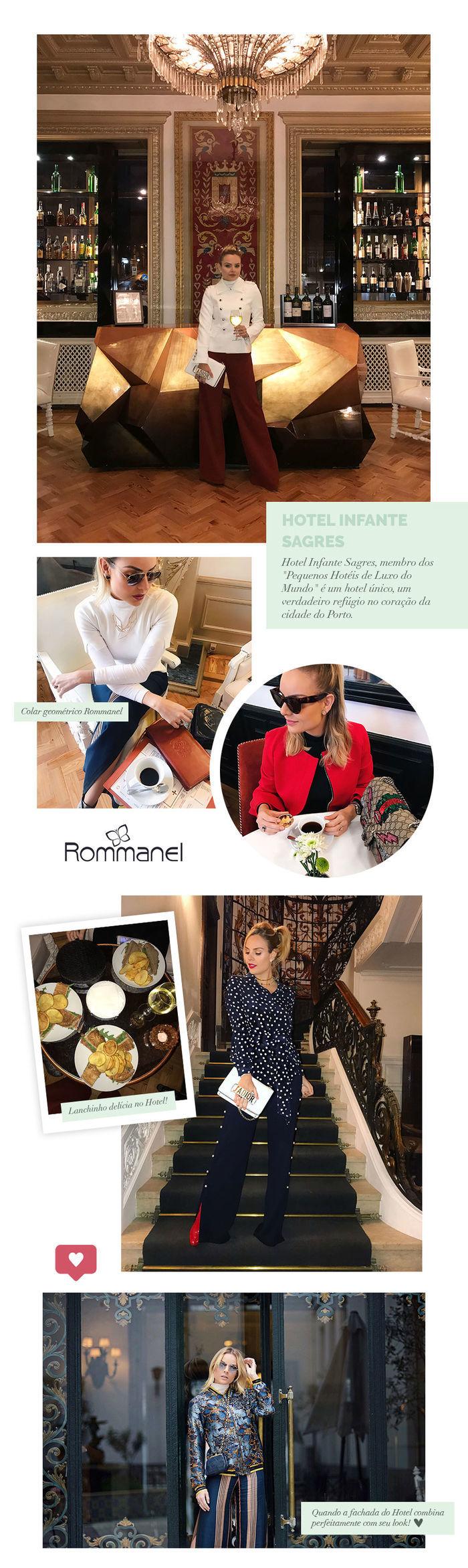 Layla Monteiro em Portugal Porto hotel de luxo Infante Sagres