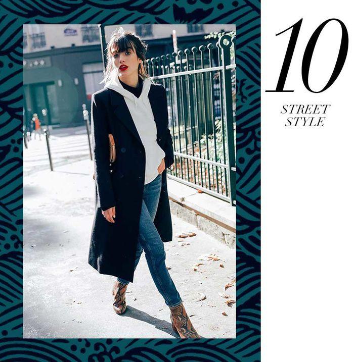 Layla Monteiro 11 dicas como usar moletom com casaco por cima casaco longo preto com moletom cinza mescla