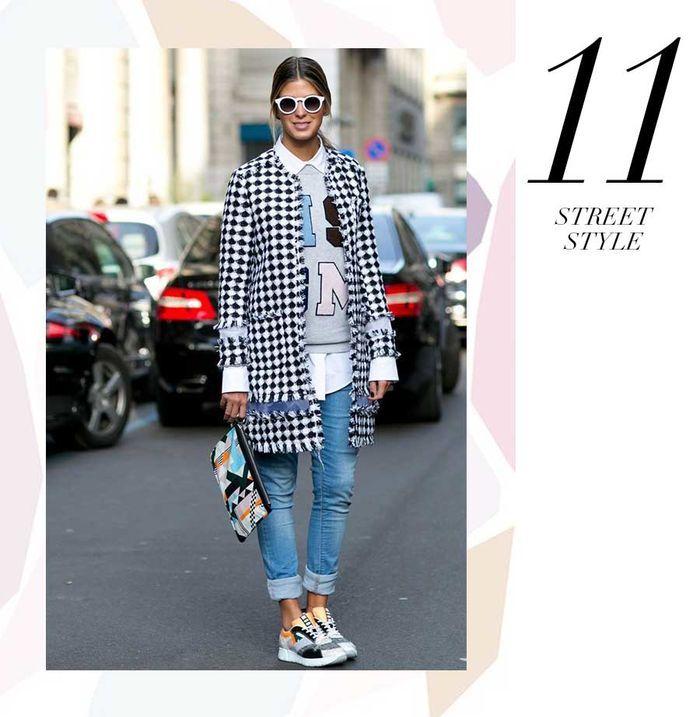 Layla Monteiro 11 dicas como usar moletom com casaco por cima casaco xadrez diagonal com moletom fun divertido com jeans anna fasano