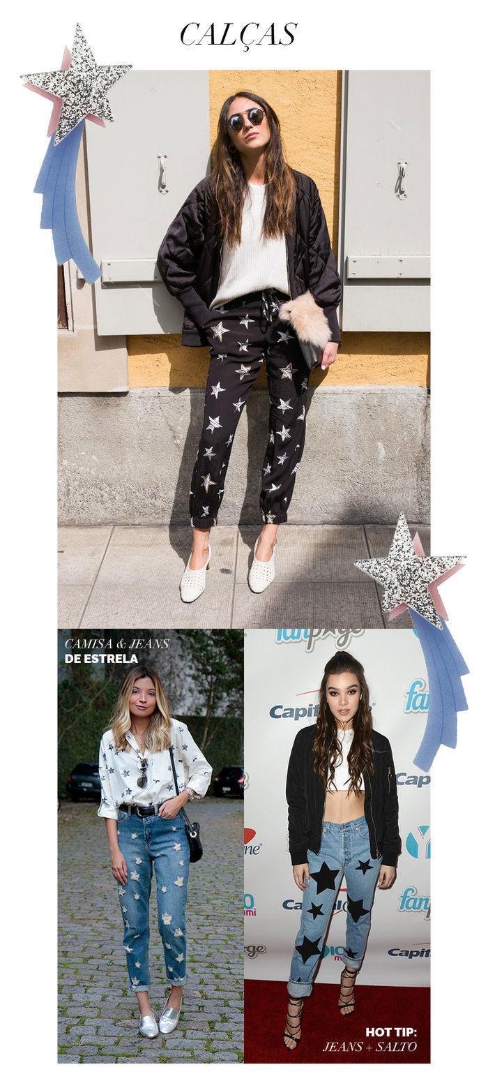 Layla Monteiro como usar look com estrela tendência acessórios calça jeans de estrela farm calça preta estrela branca