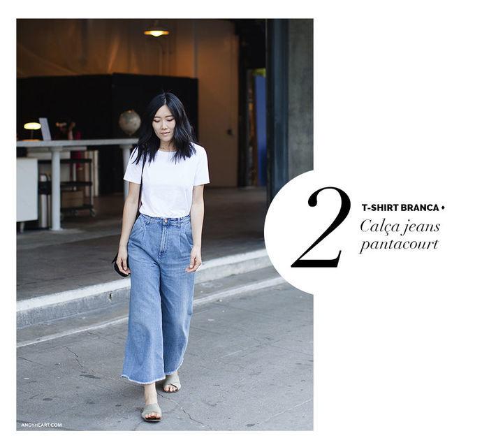 Layla Monteiro dá dicas de como usar e arrasar com tshirt camiseta branca e calça jeans pantacourt