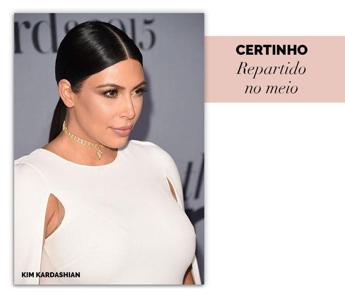 Layla Monteiro dicas rabo de cavalo baixo como usar Kim Kardashian partido no meio