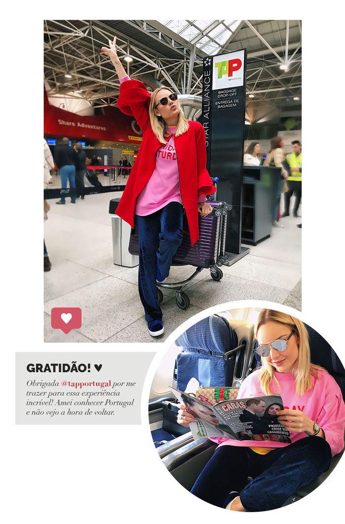 Layla Monteiro em Portugal viajar com companhia aérea avião TAP Portugal como é