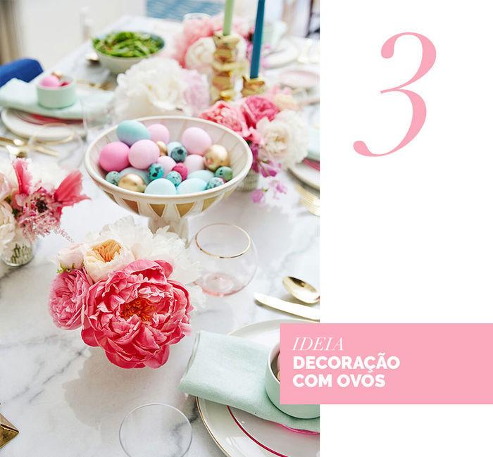 Blog Layla Monteiro dicas decoração páscoa mesa posta coelho decoração com ovos de galinha pintados ovos de páscoa