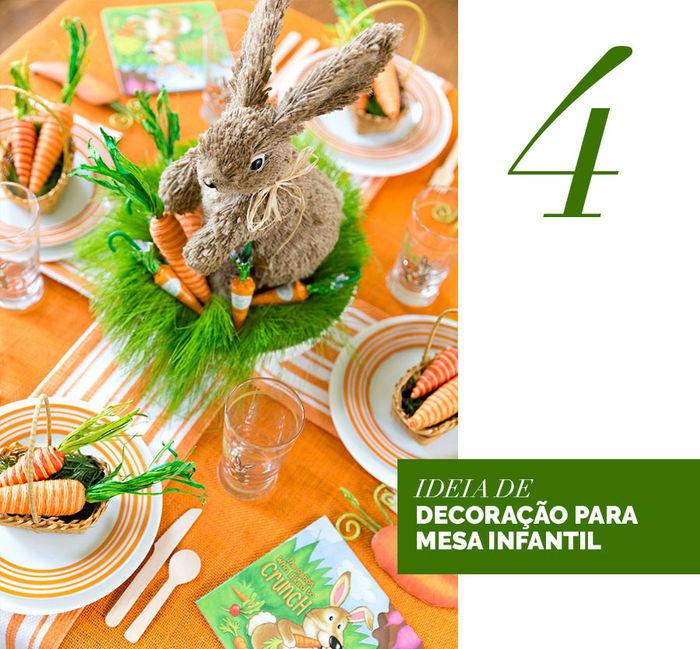 Blog Layla Monteiro dicas decoração Páscoa mesa posta coelho decoração para mesa infantil