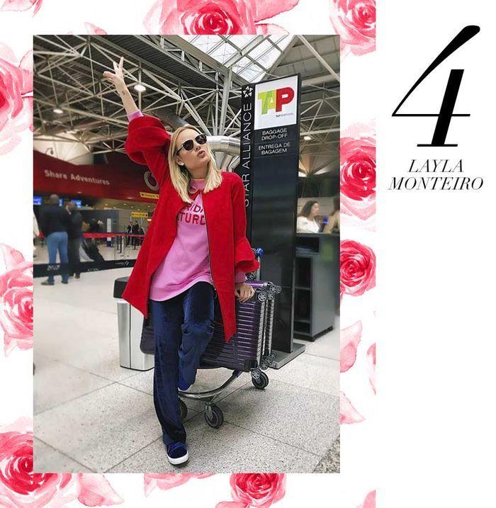 Layla Monteiro 11 dicas como usar moletom com casaco por cima casaco vermelho com moletom rosa por baixo