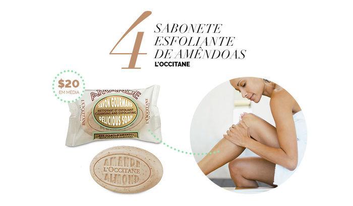 Layla Monteiro dicas de produtos para a pele por até 40 reais sabonete esfoliante de amêndoas l'occitane