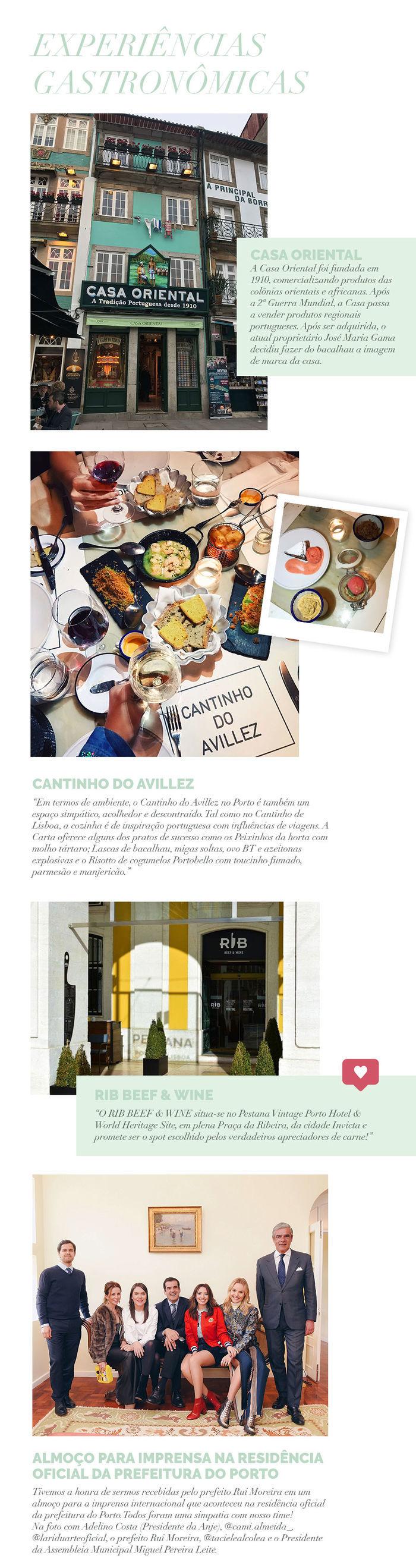 Layla Monteiro em Portugal Porto Cantinho do Avillez Rib Beef and Wine Casa Oriental de Bacalhau almoço na prefeitura de Porto para imprensa