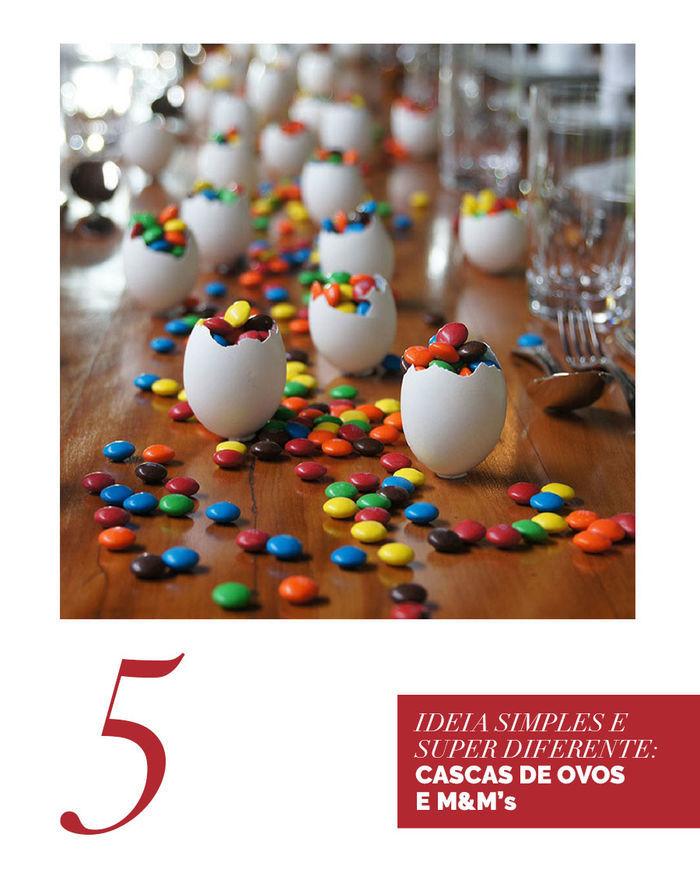 Blog Layla Monteiro dicas decoração páscoa mesa posta coelho decoração simples fácil casca de ovo m&ms