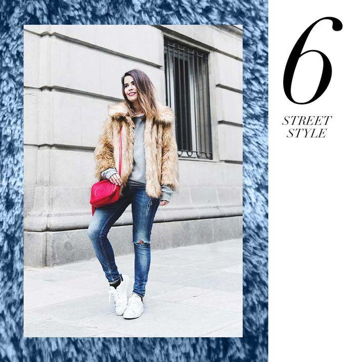 Layla Monteiro 11 dicas como usar moletom com casaco por cima casaco de pelo fake fur street style