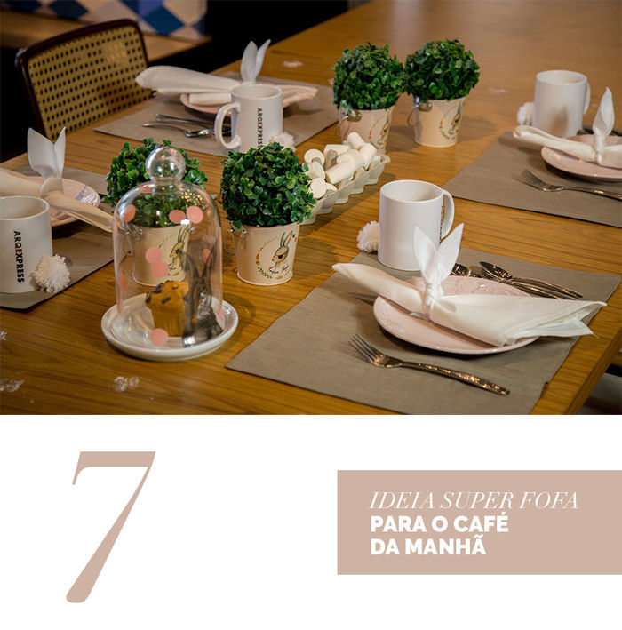Blog Layla Monteiro dicas decoração páscoa mesa posta prato louça rosa claro coelho decoração café da manhã de páscoa simples e fácil