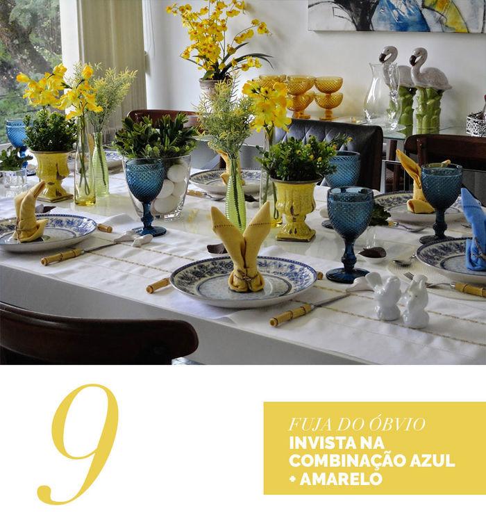 Blog Layla Monteiro dicas decoração páscoa azul e amarelo louça portuguesa