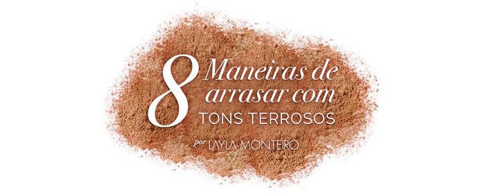 Layla Monteiro como usar roupas tons terrosos nude invenro 2017
