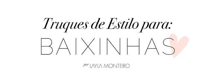 Layla Monteiro truque para baixinhas colar longo sapato nude decote V macacão cinza scarpin nude alongar silhueta