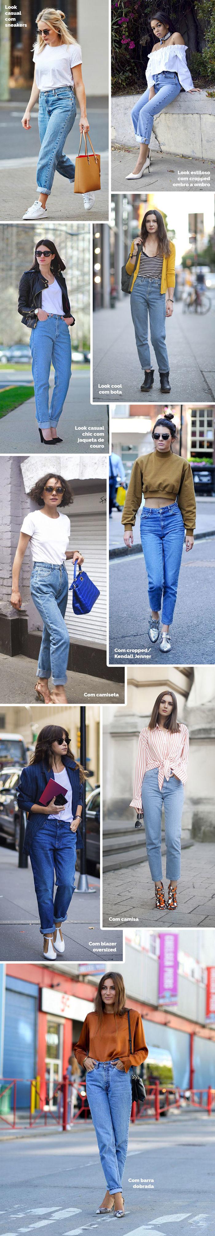 Layla Monteiro como usar mom jeans calça de cintura alta anos 80 com camiseta branca com cropped
