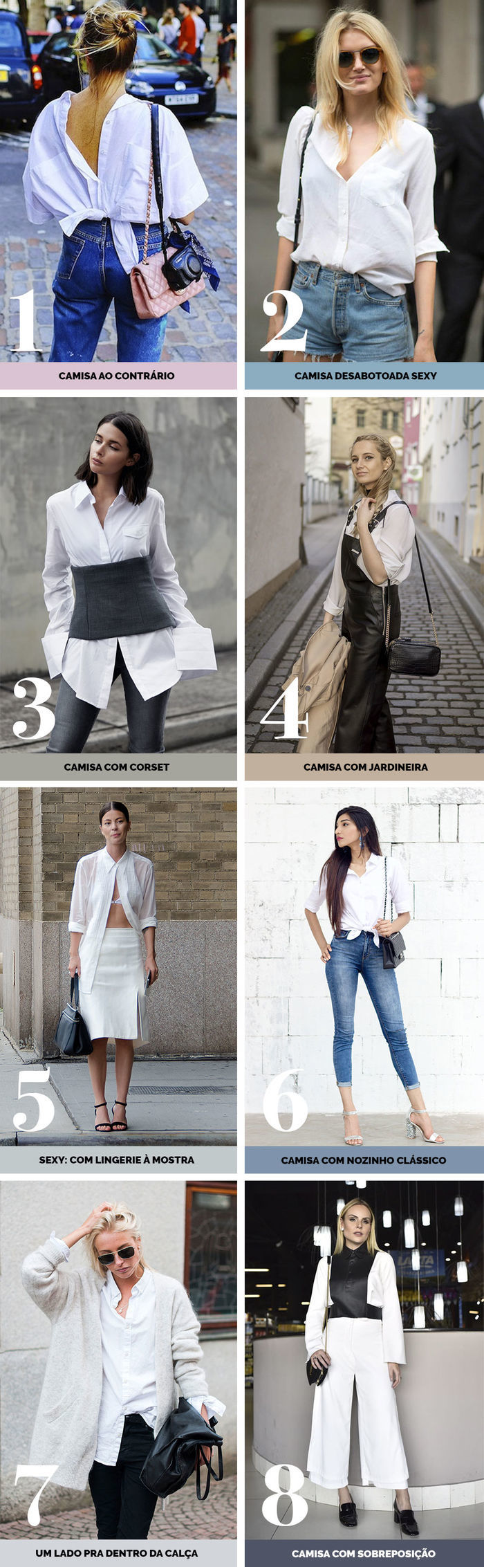 Layla Monteiro dicas de como usar camisa branca jeito diferente com jeans sobreposição