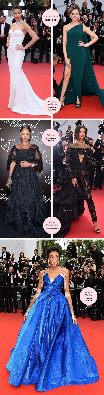 Layla Monteiro Rihanna Adriana Lima melhores looks Festival de Cannes 2017
