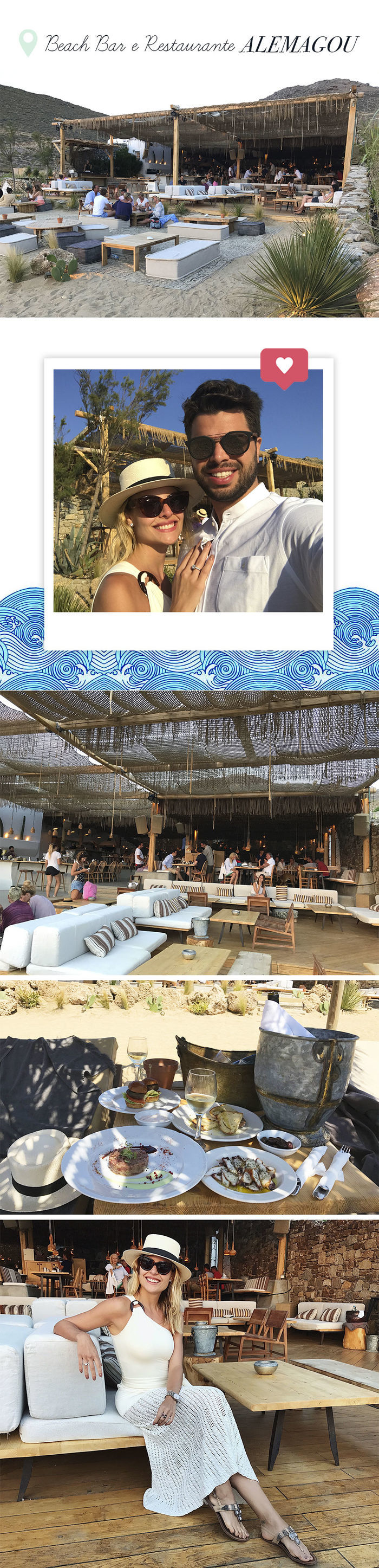 Layla Monteiro noiva pedido de casamento na Grécia viagem dicas Mykonos restaurante bar Alemagou