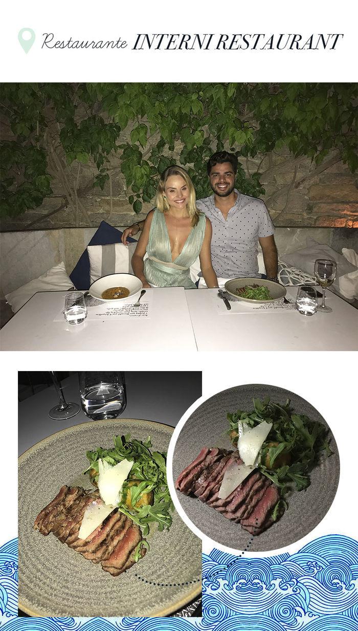 Layla Monteiro noiva pedido de casamento na Grécia viagem dicas Mykonos restaurante Interni