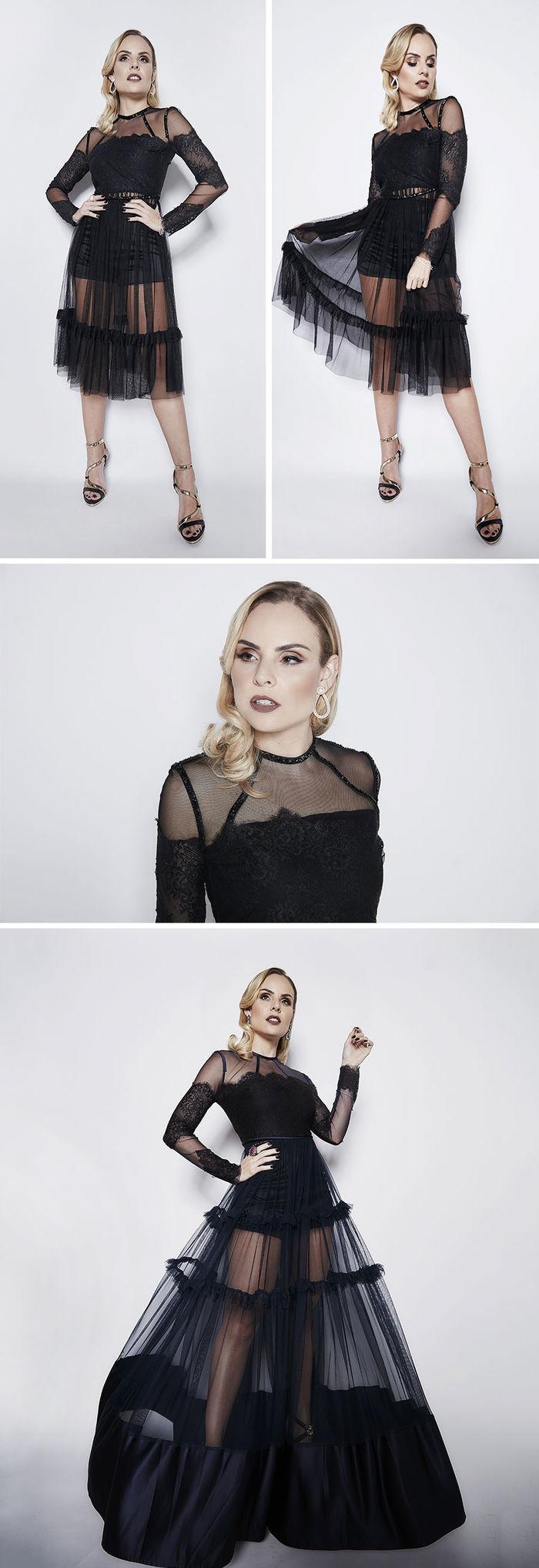 5 anos blog Layla Monteiro ensaio fotos minimalismo vestido preto de tule