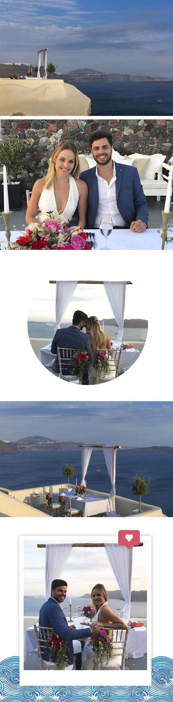 Layla Monteiro noiva pedido de casamento na Grécia viagem dicas Santorini jantar romântico dia dos namorados