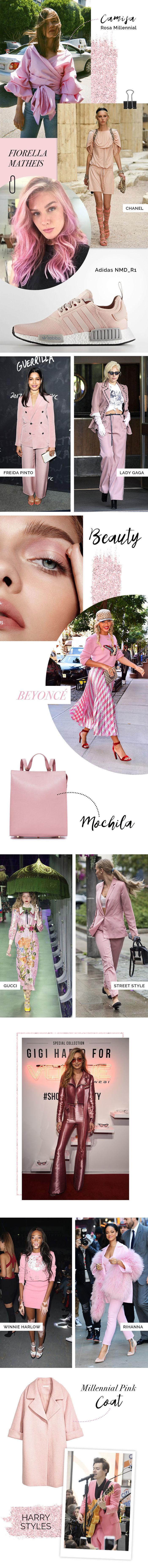 Layla Monteiro look rosa millennial rosa seco trendy color rosinha rosa blush Rihanna Harry Styles Lady Gaga