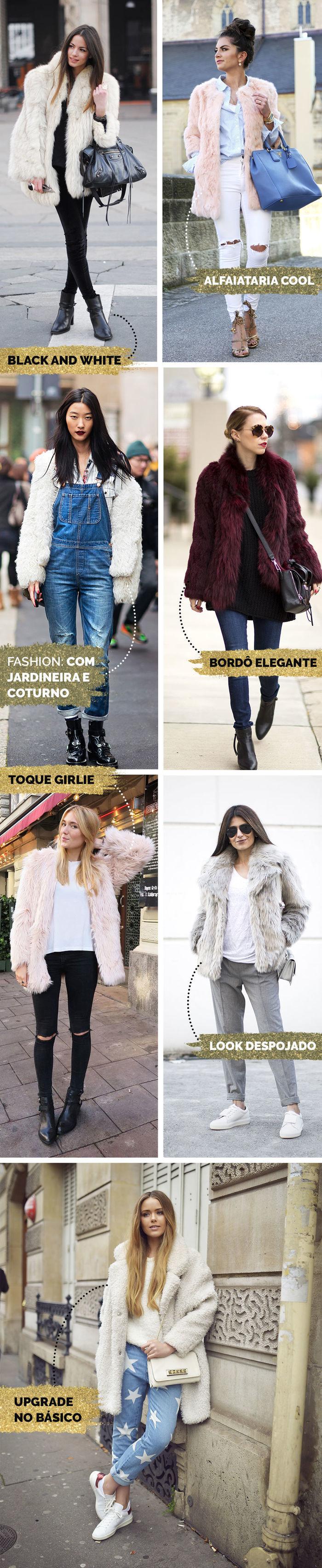 Layla Monteiro looks com casaco de pele fake como usar faux fur coat looks