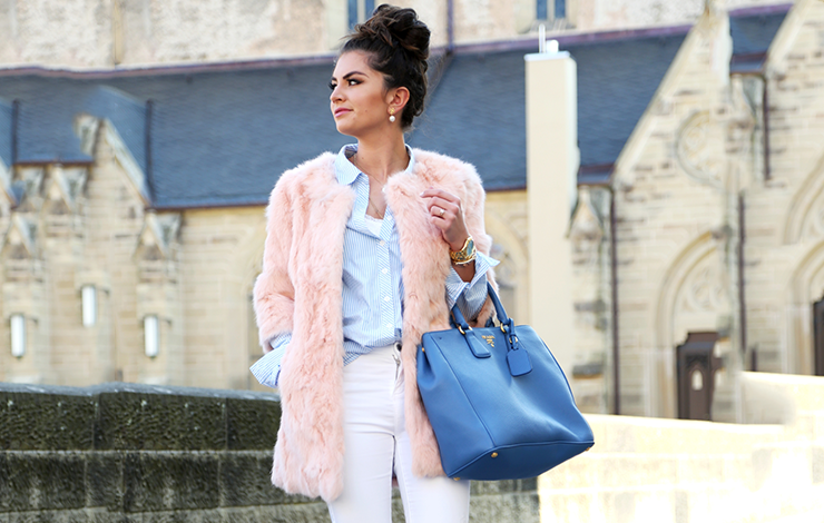 Como usar faux fur coat