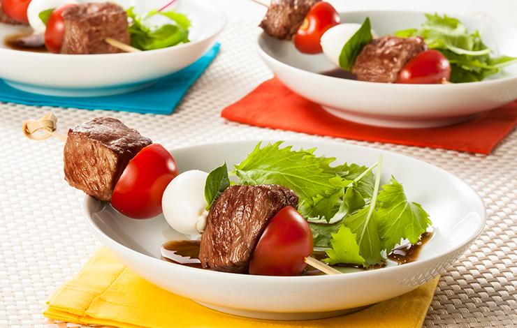 Dicas da Nutri - Espetinho de Carne com Legumes