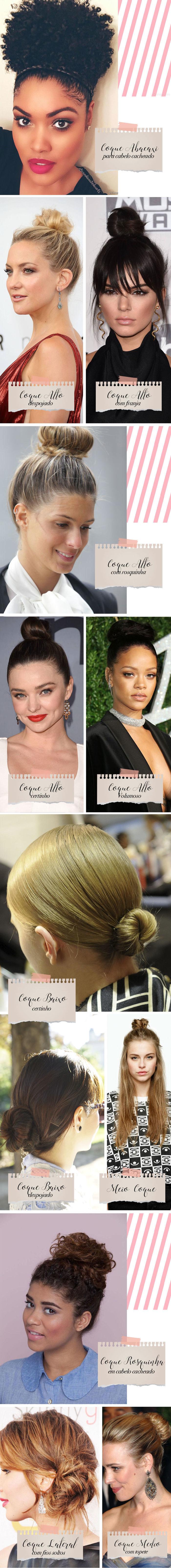 Ideias para coque no cabelo
