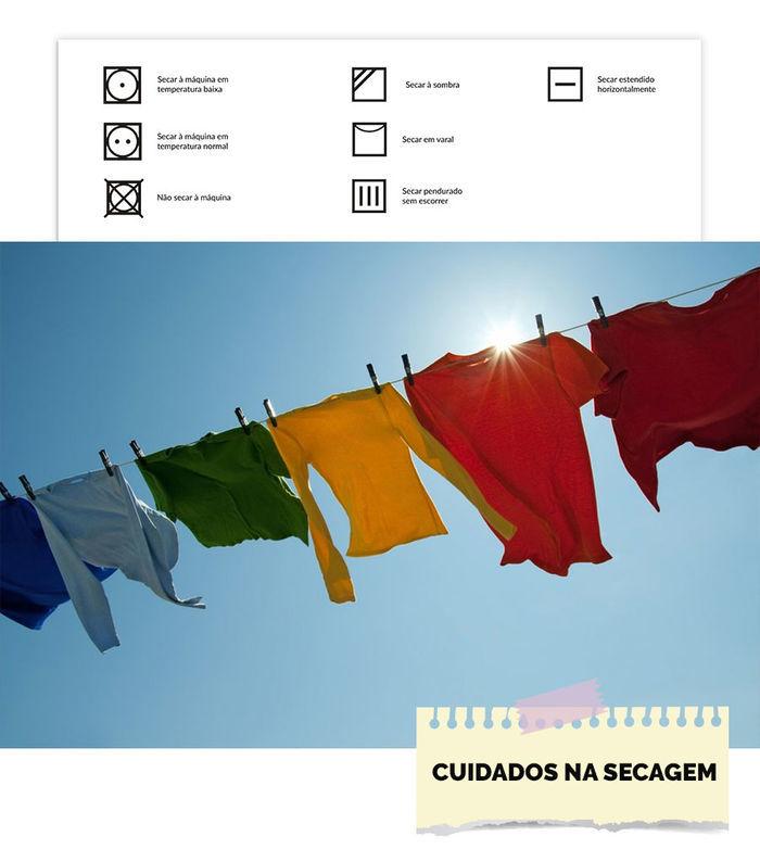 Cuidados ao secar suas roupas